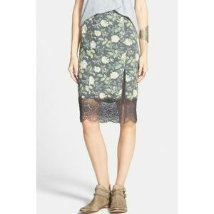 New Free People Printed Storyteller Skirt Sz 0